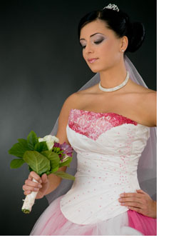 White Wedding Dresses With Royal Blue Accents 2
